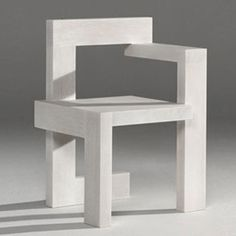 Why make these uncomfortable chairs? sadistic torture?   Gerrit Thomas Rietveld, Steltman Chair