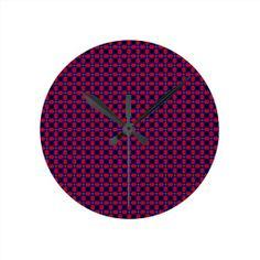 Purple Pattern Clock!  #zazzle #store #pattern #gift #present #customize #simple http://www.zazzle.com/patternsbydww25921*