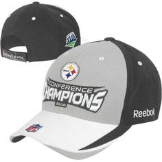 81b980ce4 Pittsburgh Steelers 2008 Conference Champions NFL Hat Reebok New with  Stickers. Pittsburgh Steelers Football
