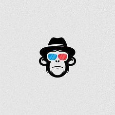 Logos, Logo Branding, 3d Logo, Graphic Design Typography, Logo Design, Barber Logo, Logo Luxury, Pop Art Wallpaper, Monkey Art