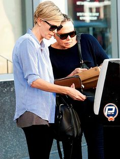 Like mother like daughter! Charlize Theron and her momma, Gerda, both sported fabulous sunnies while out 'n' about in Hollywood!
