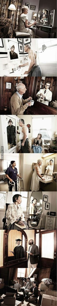 see the world in another way. Since I work in a nursing home, this is do touching...and I truly believe they still see themselves in their youngest,  most vibrant years of life.