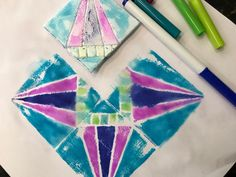All you need for these marker prints is washable marker and styrofoam!