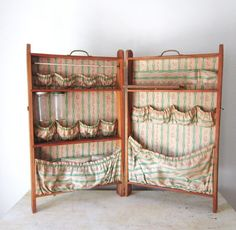Vintage Wooden Sewing Craft Folding Box Cabinet by slatternhouse5