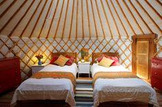 Our gorgeous Yurt  #Suryalila Retreat Centre
