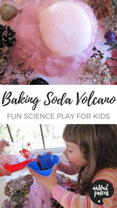 Make Mount Fuji erupt in your kitchen with this fun baking soda volcano activity that's always - pardon the pun - a blast for kids!
