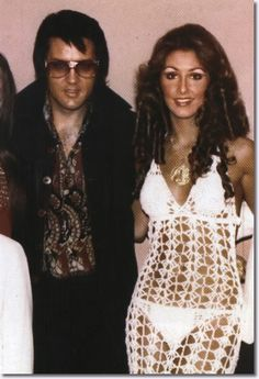 Elvis Presley & Linda Thompson. Has her son Brody Jenner ever seen her in an outfit like this?