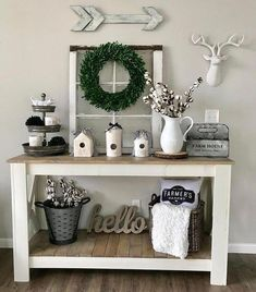 Cozy Rustic Farmhouse Winter Decor Ideas Need farmhouse winter decor inspiration? It's not complicated to add rustic winter charm to once your Christmas decorations are packed away. Come see how! Rustic Country Furniture, Diy Rustic Decor, Rustic Farmhouse Decor, Country Decor, Diy Home Decor, Antique Farmhouse, Country Style, Farmhouse Ideas, Rustic Decorations For Home
