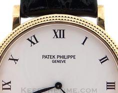 Patek Philippe 18K Hobnail Calatrava 3919 [3919] : KeepTheTime.com ...