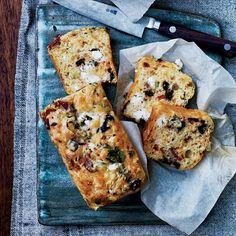 @funfacegames This best-ever quick bread is packed with olives, cheese and bacon, and infused with cayenne. Get the recipe at Food & Wine.