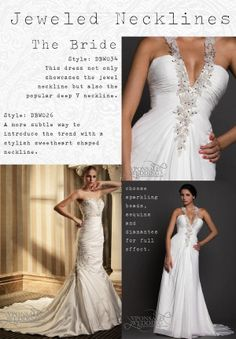 wedding dress trends 2014 jeweled necklines