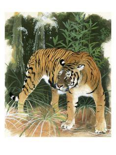 size: Giclee Print: Maurice Wilson Wall Art by Maurice Wilson : Artists Extinct Tigers, Extinct Animals, Wilson Art, Tiger Art, Animal Paintings, Big Cats, Find Art, Giclee Print, Bali