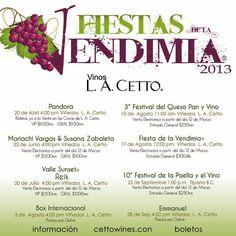 Fiestas de la Vendimia en L.A. Cetto / Agenda Personalized Items, Day Planners, Fiestas, Viva Mexico, Events