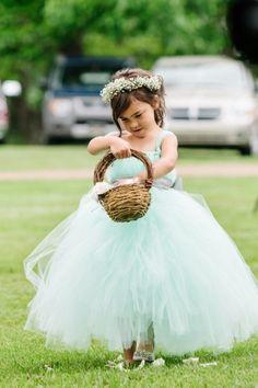 every last detail   wedding inspiration   flower girl   tulle skirt   ball gown   flower crown