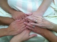 Our Loving Hands with Our Passing Mother. RIP Mom :(