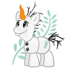 Olaf [as My Little Pony] (Drawing by Unknown) #Frozen #MyLittlePony