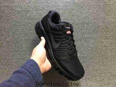870a8a91598317 Nike Air Max 2017 Mesh All Black Flag Women Men Sneakers