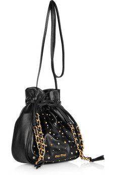 Miu MiuStudded leather bag
