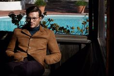 Gucci Shearling coat, Gucci Fine-Gauge Wool Rollneck Sweater, Acne Studios Ryder Slim-Fit Cropped Wool and Mohair-Blend Trousers, Garrett Leight California Optical Wilson Round-Frame Acetate And Metal Optical Glasses