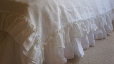 Linen sheets shabby chic bedding linen by CustomLinensHandmade