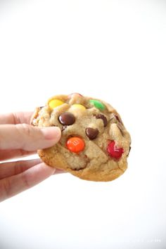 Large bakery style M&M cookies - an easy twist to a traditional recipe makes these cookies amazing!