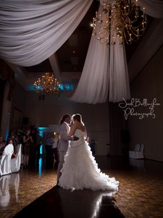 Dreamy first dance with wedding couple. Bride and groom stunning first dance under crystal and gold chandelier.  #JoshBellinghamPhotography