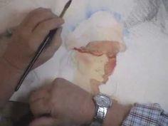 "Andrew Perello ""Watercolor Portraiture"" - Wet Paints Studio Group Demo Highlights (Jan. 2010)"