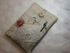 ipad mini case/ kindle cover/ ereader sleeve/ in Postcards fabric. $20.00, via Etsy.