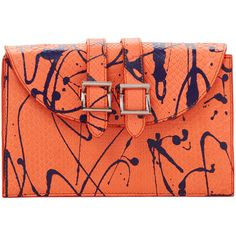 Meli Melo Women's Thela Prep Snakeskin Clutch ($319) ❤ liked on Polyvore featuring bags, handbags, clutches, carteras, multi, real leather purses, snakeskin purse, red purse, red handbags and leather handbags