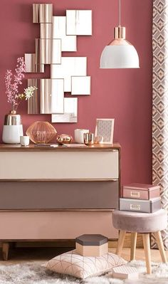 11 Cool Pink Bedroom Ideas That Can be Pretty - All Bedroom Design Trendy Bedroom, Dream Decor, New Room, Wall Colors, Paint Colors, Home Decor Inspiration, Color Inspiration, Bedroom Decor, Bedroom Ideas