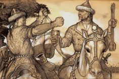 Blood Oath used by many Steppe Warriors in Ancient times. Matthias Corvinus, Hungary History, Eurasian Steppe, Turkic Languages, Turkish People, Blood Brothers, Mughal Empire, Statue, Illustration