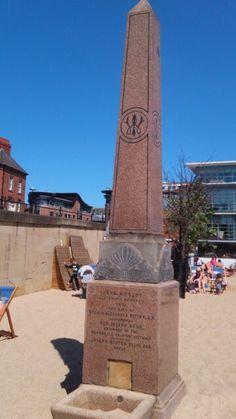 Pillar at Newcastle's artificial beach