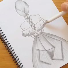 how to draw a beautiful girl back side with dress drawings summer Beautiful pencil sketch Beautiful Pencil Sketches, Art Drawings Sketches Simple, Girl Drawing Sketches, Cute Easy Drawings, Girly Drawings, Art Drawings For Kids, Pencil Art Drawings, Pencil Drawing Inspiration, Easy Sketches To Draw