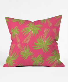 Loving this Allyson Johnson Summer Palm Trees Outdoor Throw Pillow on #zulily! #zulilyfinds