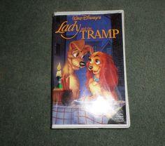 Vintage LADY AND THE TRAMP (VHS 1987), Walt Disney's Black Diamond Classics, GUC