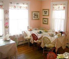 pink little dining room restaurant.