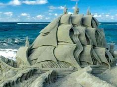 Sand Art◕ Impressive Sand Ship !! | See More Pictures | #SeeMorePictures