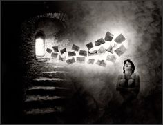 """Her words came back to haunt her""    Photo by Jerry Uelsmann"