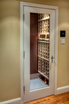 Wine closets on pinterest wine cellar wine storage for Turn closet into wine cellar