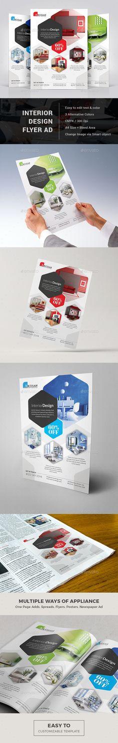 Interior Design Flyer Template PSD. Download here: http://graphicriver.net/item/interior-design-flyer/15355671?ref=ksioks