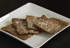 Garlic Parmesan Flax Seed Crackers - Recipe for Low Carb Flax Crackers