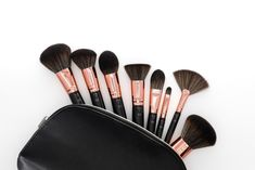 No make-up bag is complete without the perfect brushes 😍 Our super-chic black & rose gold make-up brushes are the perfect addition to your collection for a flawless complexion, plus they're vegan too! Prices start from Beauty Hut, My Mobile Number, Avon Sales, Avon Brochure, Avon Online, Avon Rep, Looking For People, Makeup Yourself, Makeup Brushes
