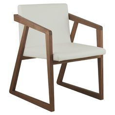 Contemporary armchair / in wood / sled base LEONORA B CMcadeiras