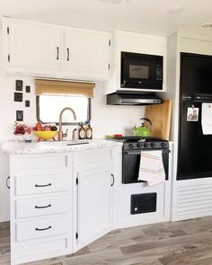 """Fantastic """"Outdoor Kitchen Appliances"""" information is available on our inter. - Fantastic """"Outdoor Kitchen Appliances"""" information is available on our inter… – Fantastic - Rv Living, Tiny Living, Mobile Living, Decorating Your Rv, Decorating Ideas, Wooden Bunk Beds, Rv Interior, Interior Design, All White Kitchen"""