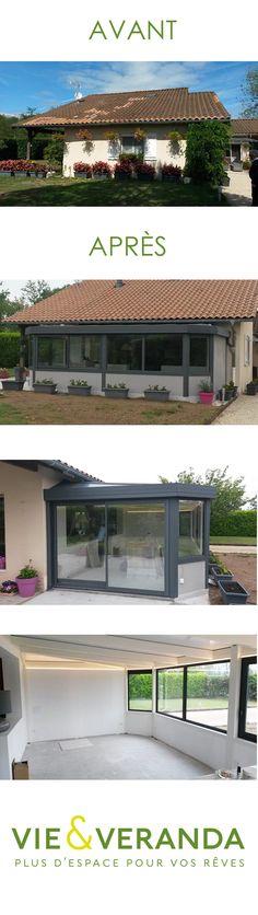 Avis Client véranda Construction, Pergola, Outdoor Structures, Client, Mansions, Recherche Google, House Styles, Home Decor, Steel