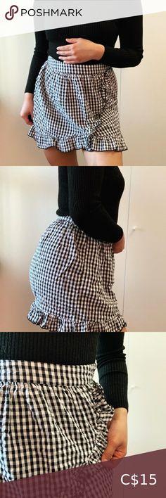 Orange Linen Skirt NEW Black white tartan check lace Gothic Festival Party Punk