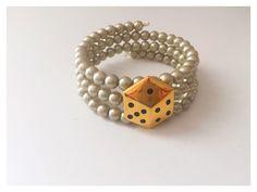 Vintage Escada Gold Dice Button Bracelet by OldSoul50 on Etsy