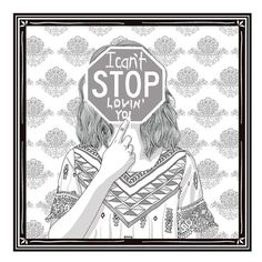 ** Cant Stop Loving You ** Modern wall art, minimalist poster, digital illustration, fine art print.  An original art work by MunaMias designers.  Print