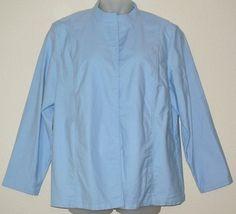 Eileen Fisher Cotton Blue Jacket