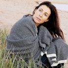 Wonga Road Baby Alpaca Throw Blanket – Grey & Ivory $220